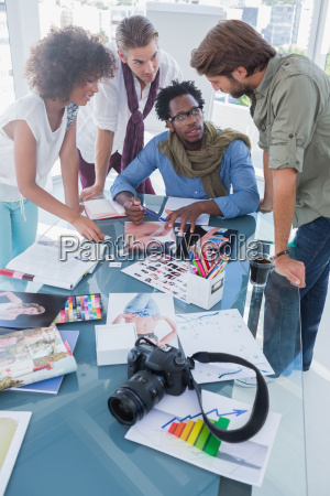 photo editors having brainstorming