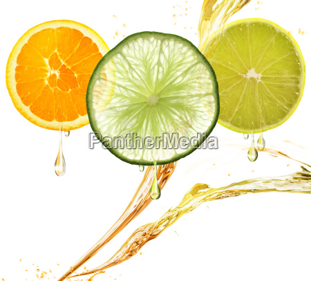 orange lemon and lime slices