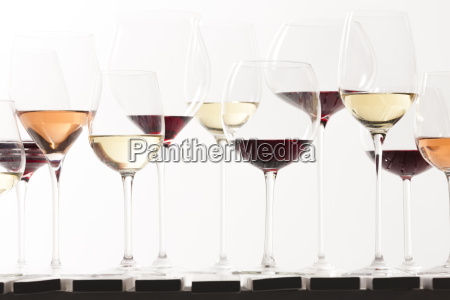 still life of wine glasses with