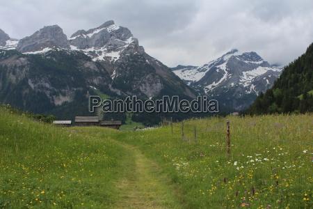 scenery in gsteig bei gstaad bernese