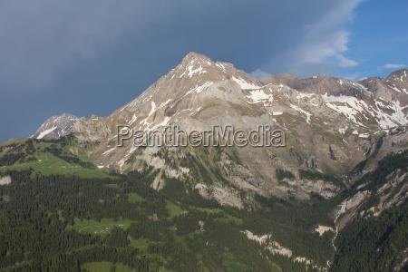 spitzhorn beautiful mountain near gstaad