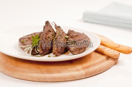 served fried liver on plate