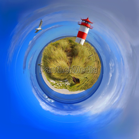 little planet from the sylter lighthouse