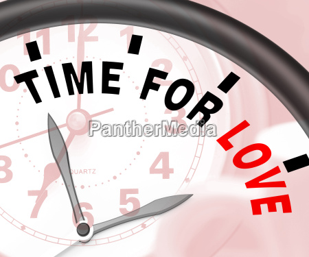 time for love message shows romance