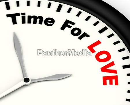 time for love message showing romance