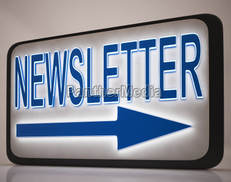 newsletter sign showing news mails