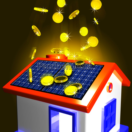 coins falling on house showing extra