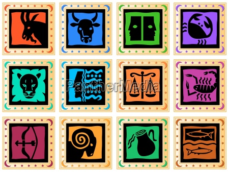 button mt zodiac sign isolated