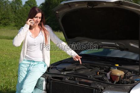 breakdown on the car