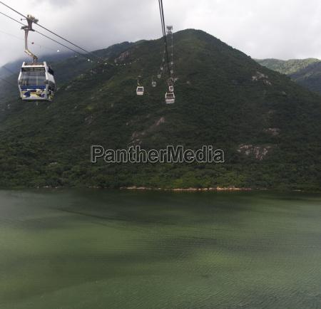cable cars at lantau island hong