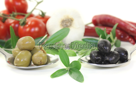 olives with olive branches