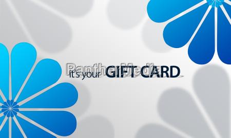 blue flower giftcard