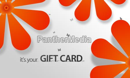orange flower giftcard