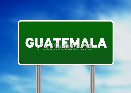 guatemala highway sign
