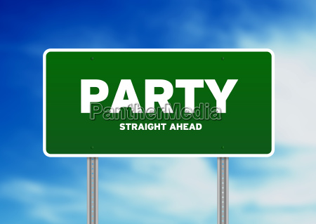 party highway sign