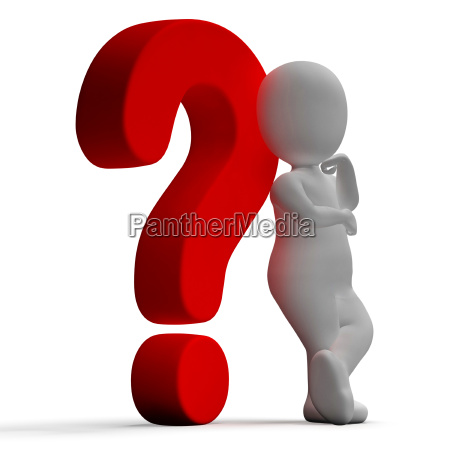 question marks and man showing confusion