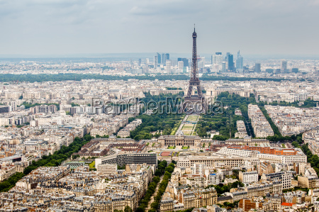 aerial view on champs de mars