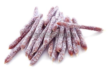 sticks of saucisson
