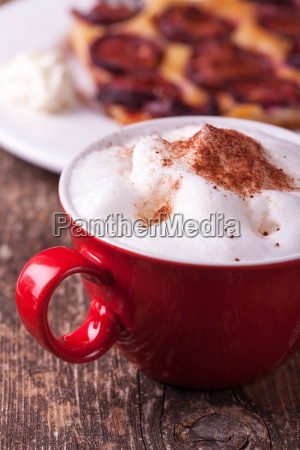 milk foam cake pie cakes cappuccino