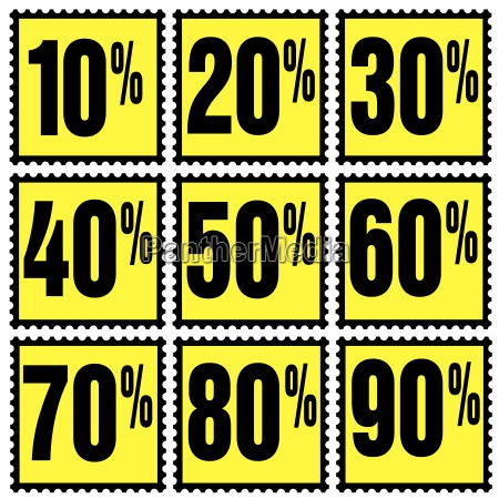 yellow percentages brands indemnified illustrations