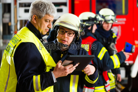 fire brigade planning on the tablet