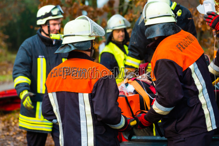 accident fire ventilated victim to