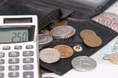polish money zloty banknotes coins
