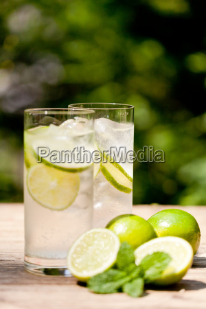 healthy soft drink mineral water with