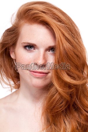 attractive young woman with red hair