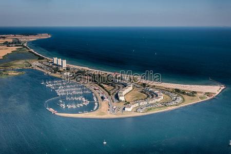 fehmarn suedstrand aerial view