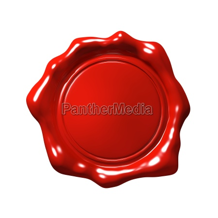 red wax seal 4 isolated