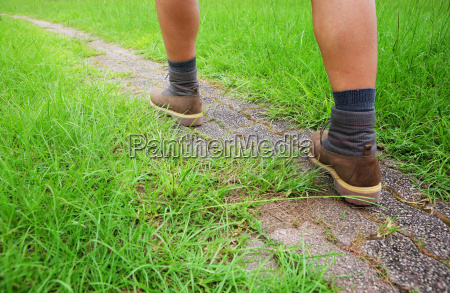 man go hiking
