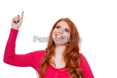 young attractive woman portrait expressive isolated