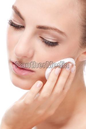 mujer retrato cuidado productos cosmeticos cosmetico