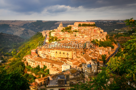 view of beautiful village ragusa at