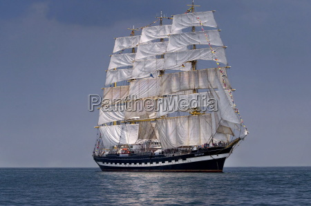 sailboat historic tall ship at sea