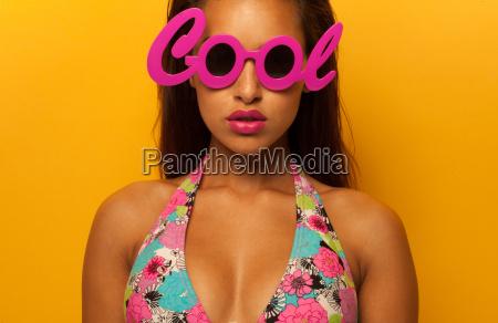 stylish girl wearing cool glasses