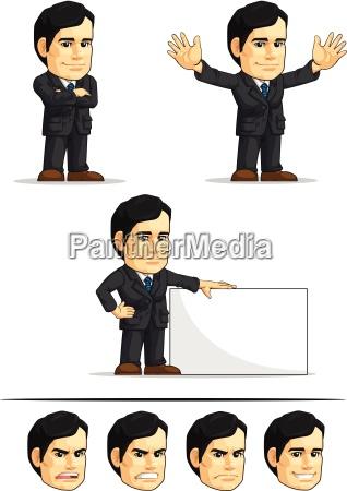 businessman or office executive customizable mascot