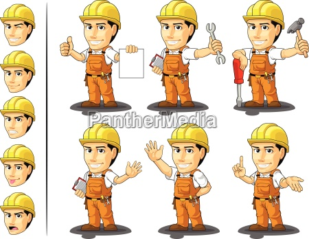 industrial construction worker mascot 2