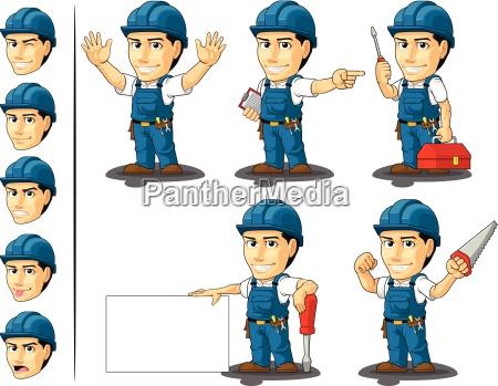 technician or repairman customizable mascot 2