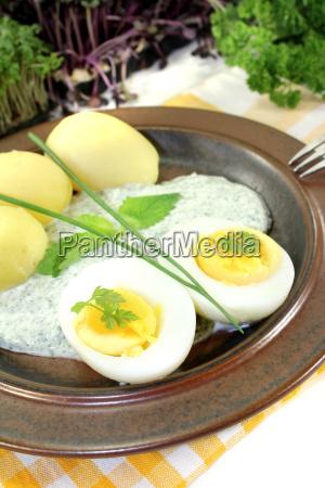 frankfurt green sauce and potatoes