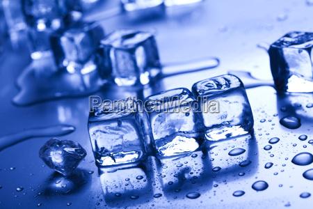 shiny ice cubes