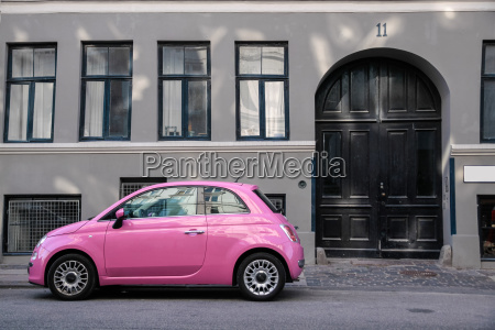 funny pink car