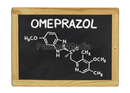 chemical structural formula of omeprazole on
