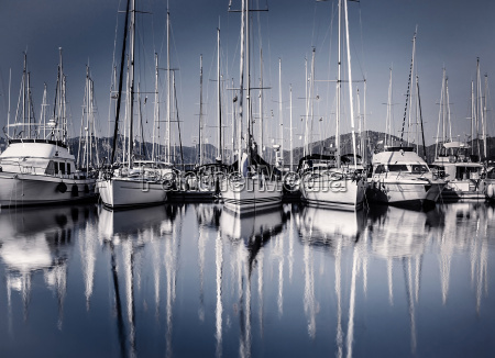 sail, boat, harbor, in, evening - 9768622
