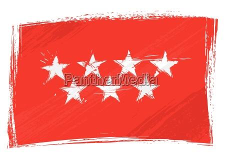grunge community of madrid flag