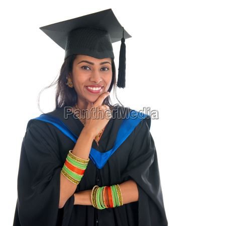 indian graduate adult student thinking