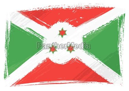 grunge burundi flag