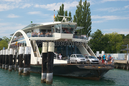 car ferry in lake constance