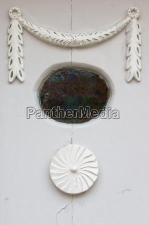 antique front door detail